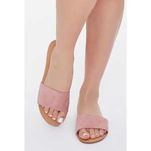Forever 21 Faux Suede Pink Sandals
